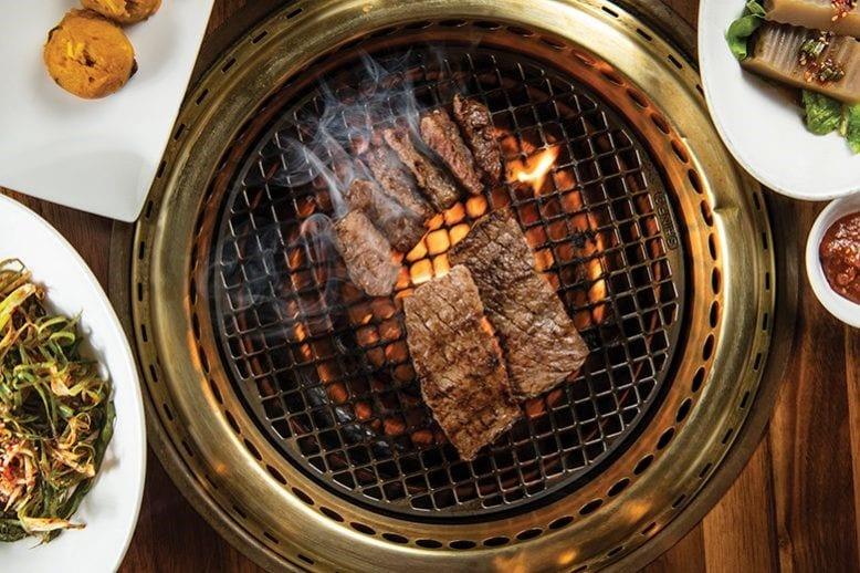Lemonshark Poke Makai Grill - Meat on Grill